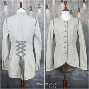 Free People 1970 Military Corset Jacket in Gray 😍